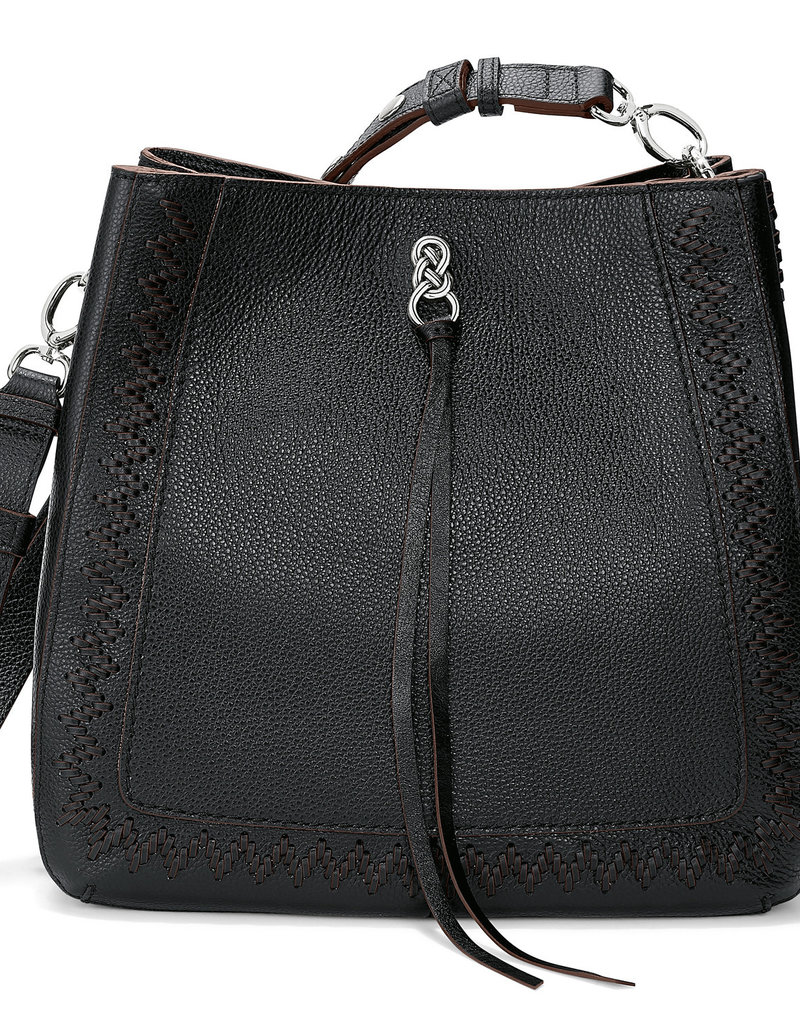Brighton Georgia Convertible Hobo Black