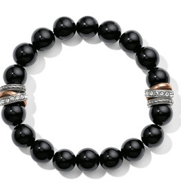 Brighton Neptune's Rings Black Agate Stretch Bracelet
