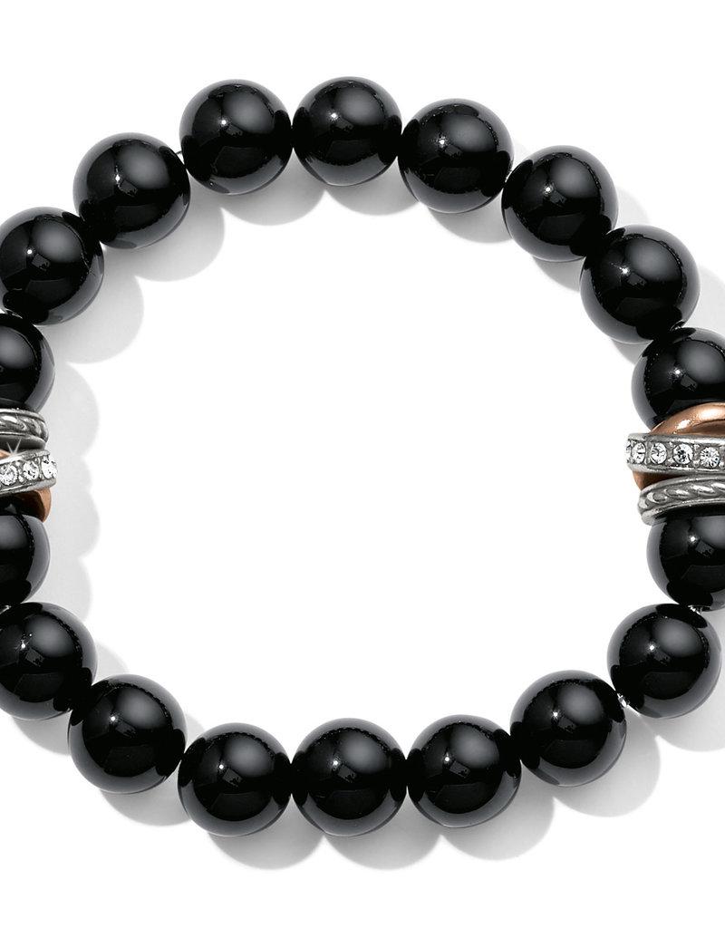 Brighton Neptune's Rings Black Agate Stretch Bracelet