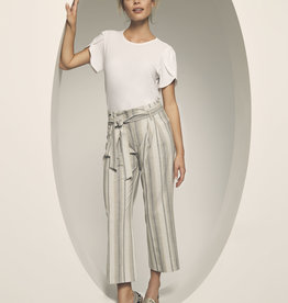 Paloma Stripe Pants w/ Wrap Tie and Ankle Hem
