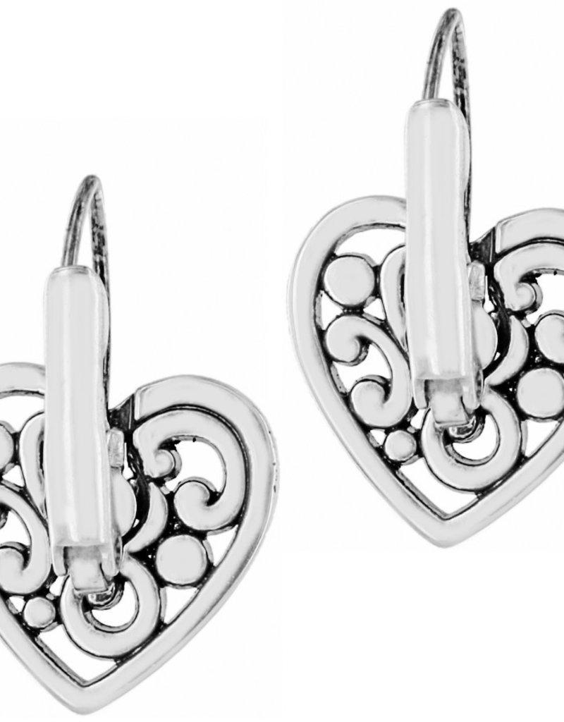 Brighton Contempo Heart Leverback Earrings