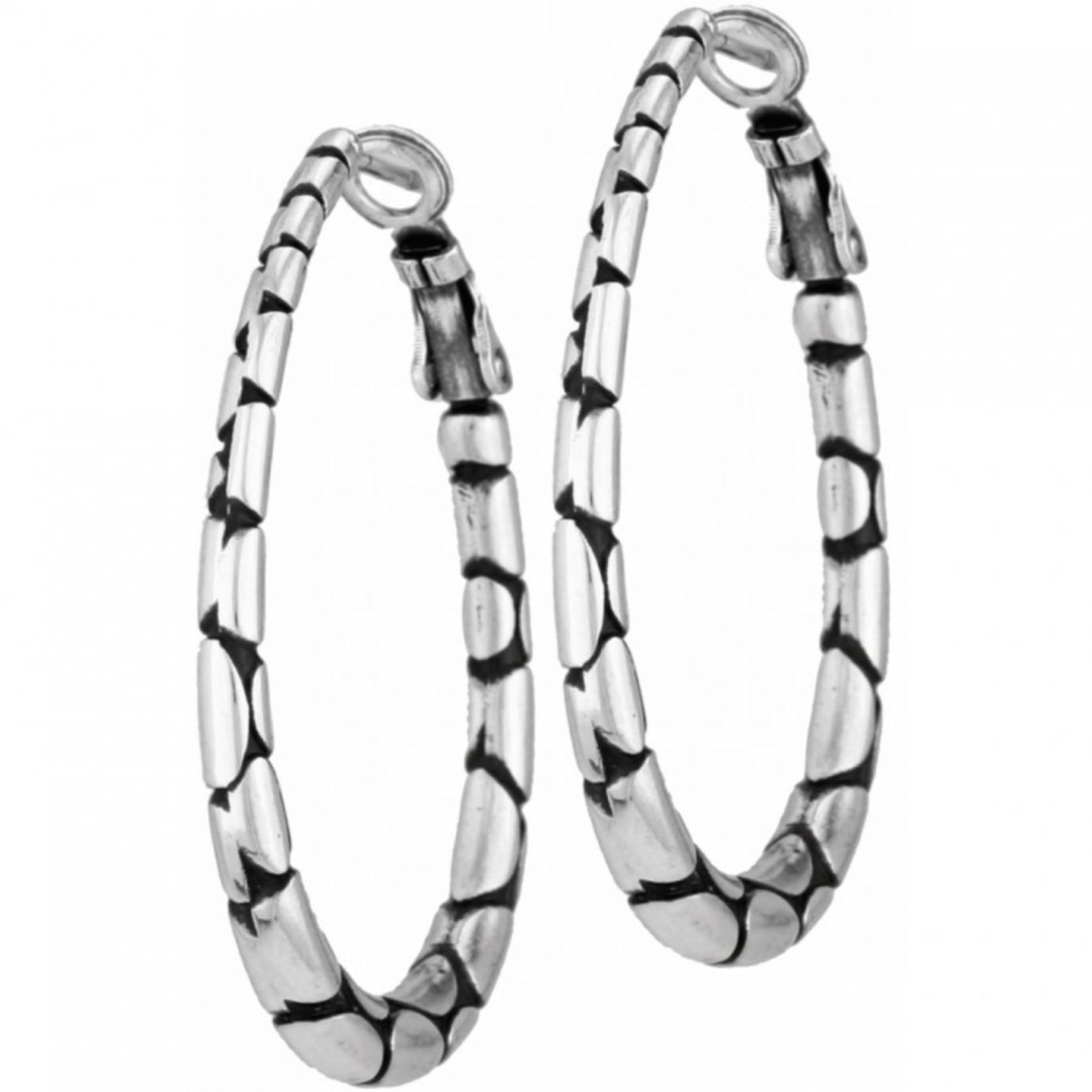 Brighton Pebble Oval Hoop Earrings