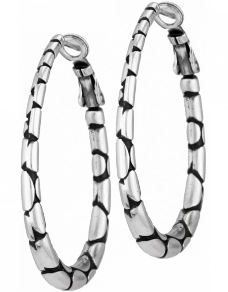 Brighton Pebble Oval Hoop Earrings