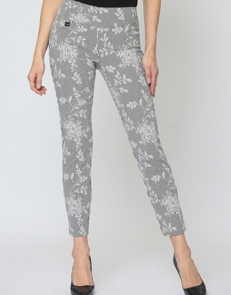 Slim Ankle Pants/Whitman Stripe and Floral Imprint