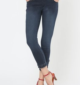 PullOn Jeans w/ Wide WaistBand and Front Ruffle Cuff