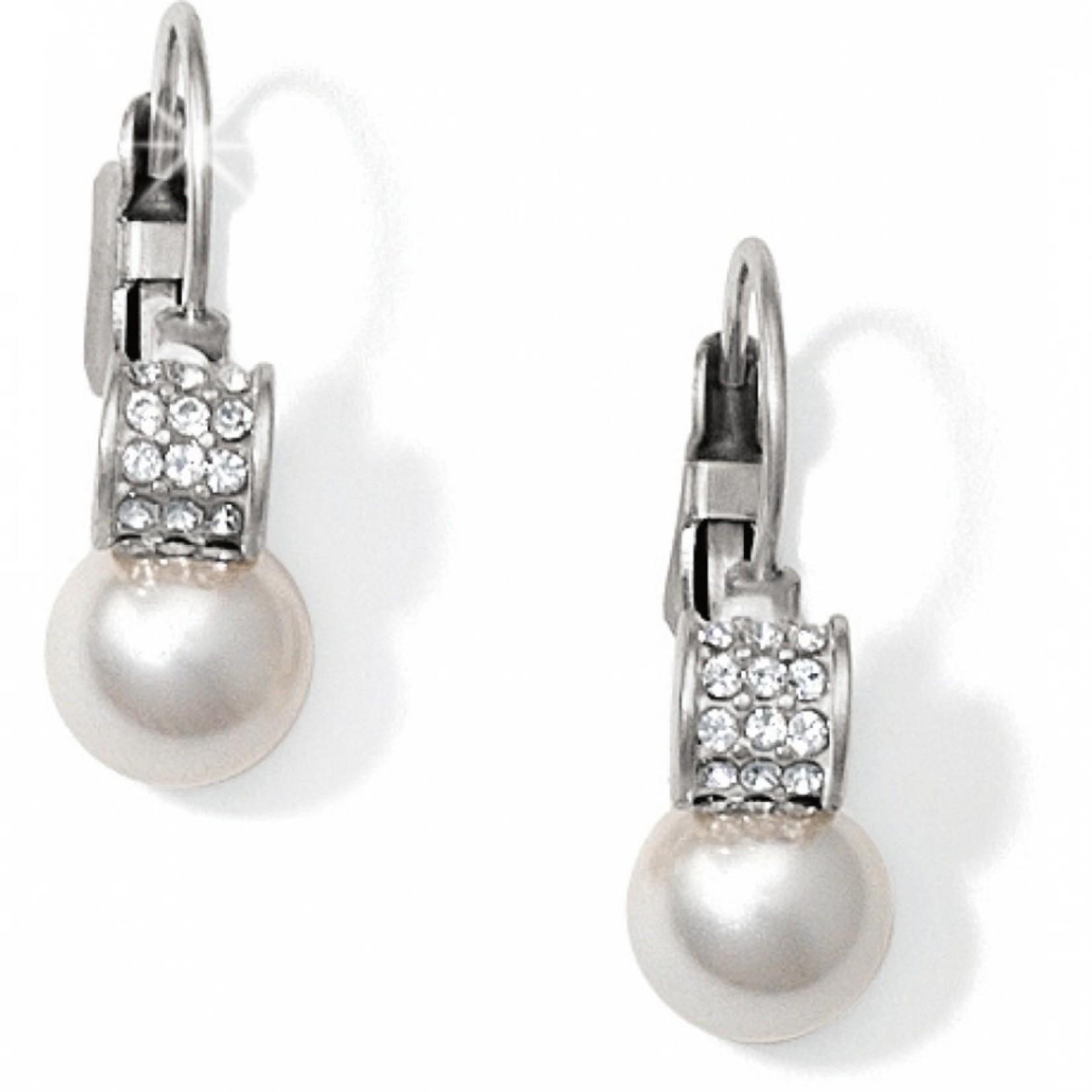 Brighton Meridian Petite Pearl Leverback Earrings