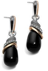 Brighton Neptune's Rings Black Agate Teardrop Earrings