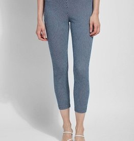 Toothpick Crop Leggings w/White Pinstripe