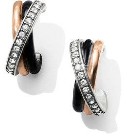 Brighton Neptune's Rings Black Post Clip Earrings