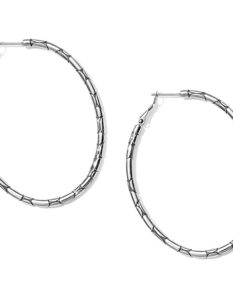 Brighton Pebble Large Oval Hoop Earrings