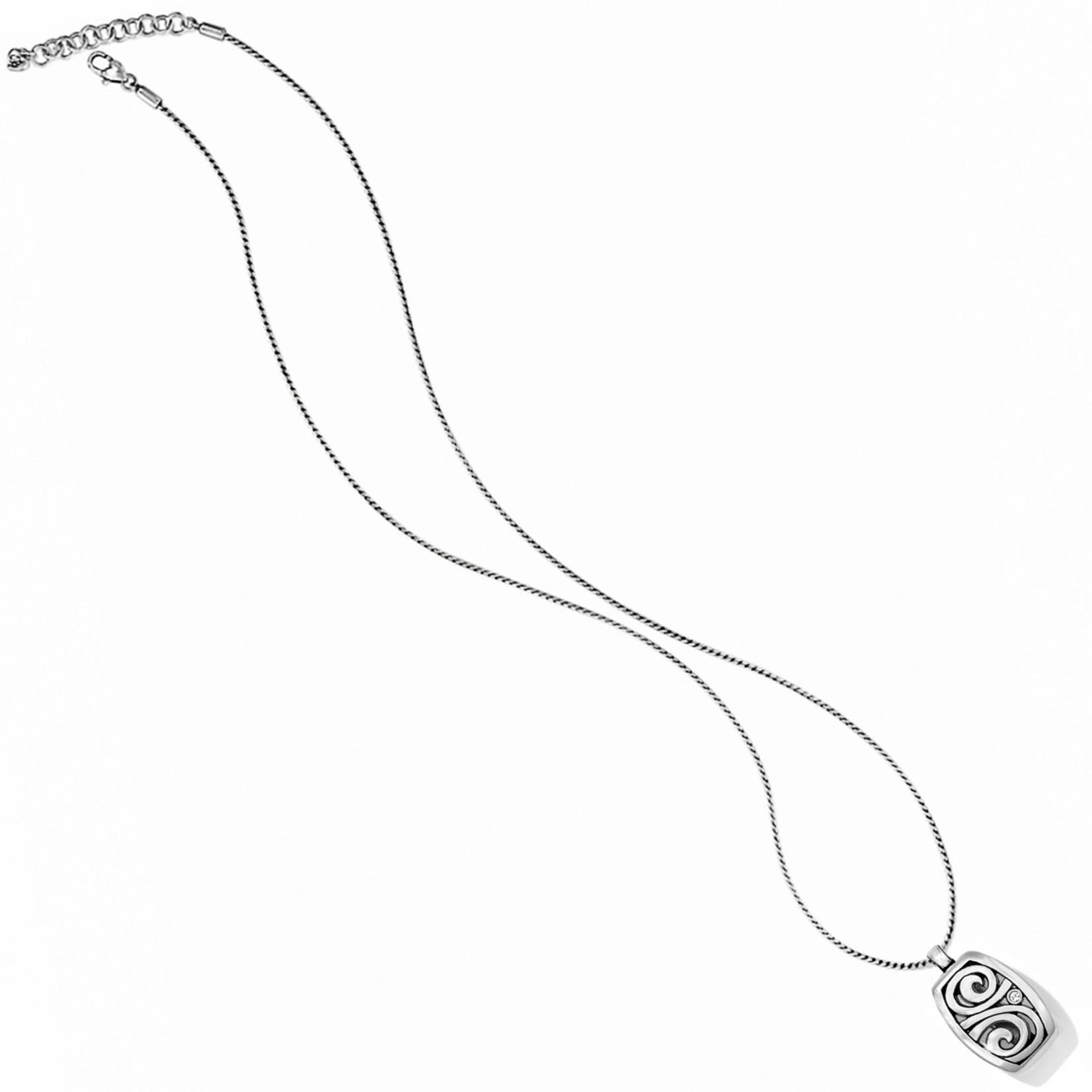 Brighton London Groove Badge Clip Necklace