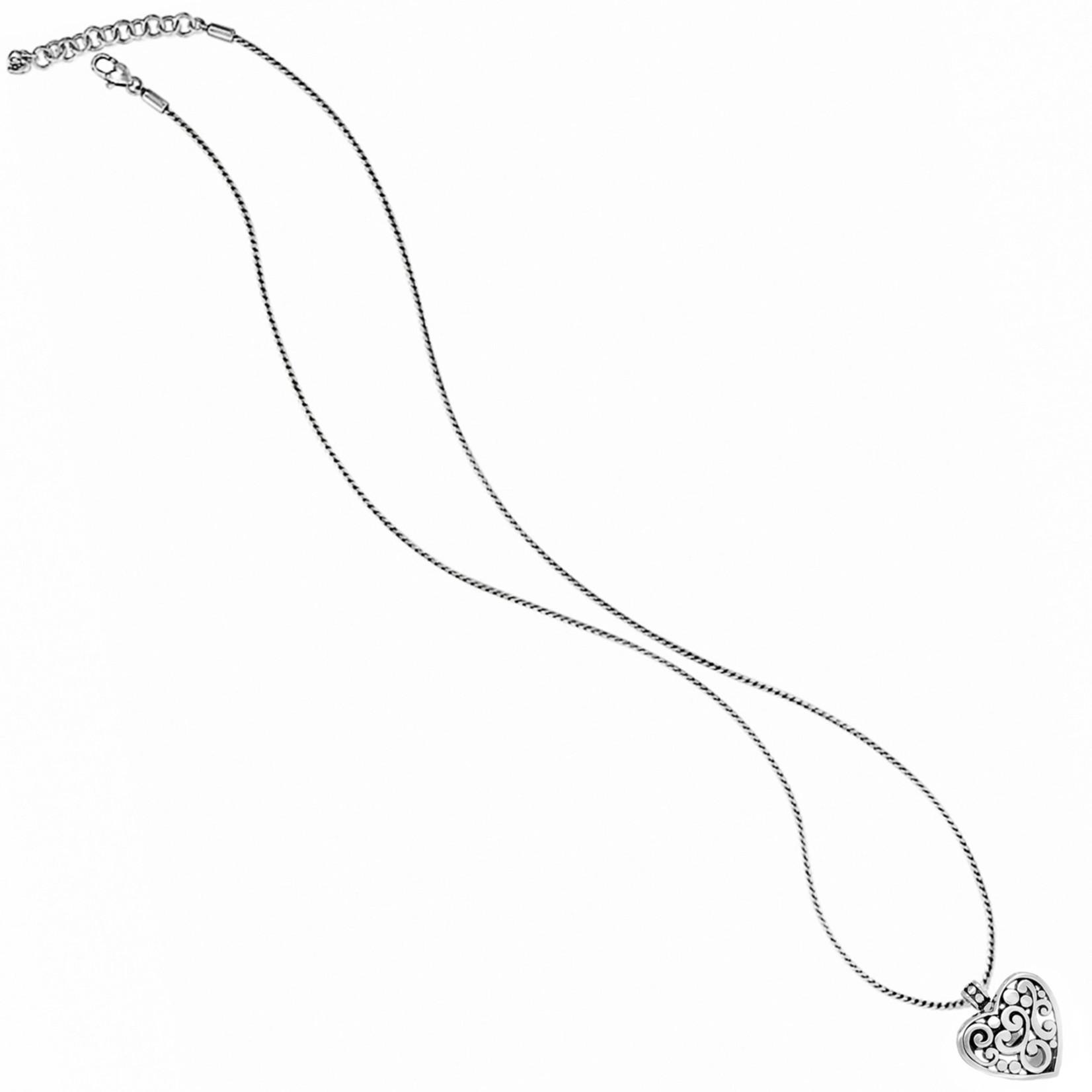 Brighton Contempo Heart Badge Clip Necklace