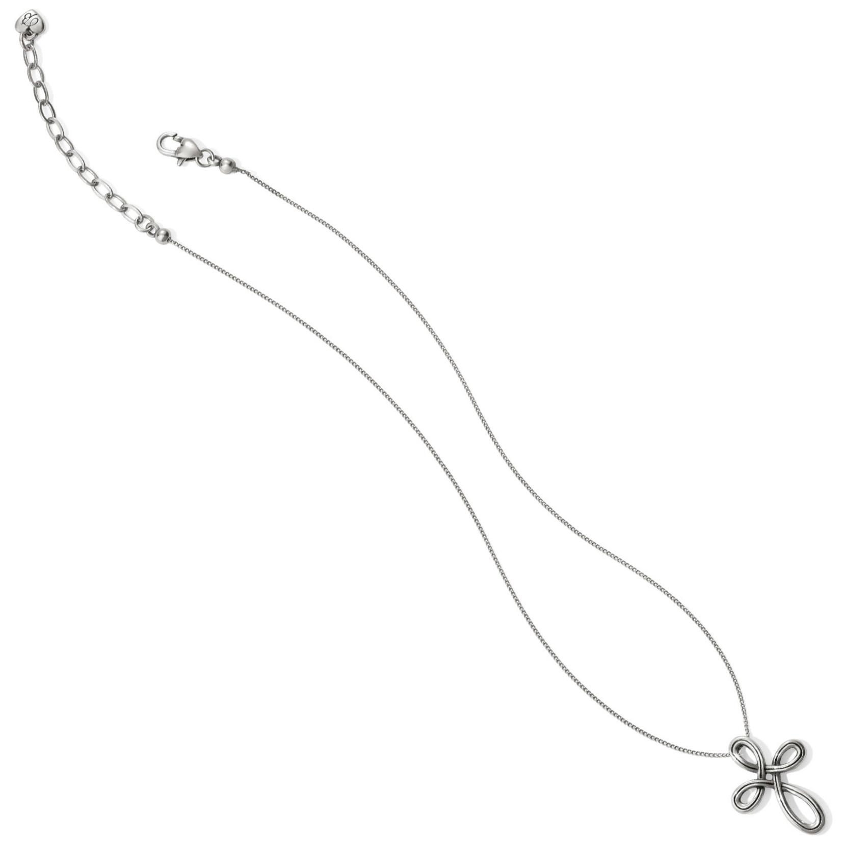 Brighton Interlok Petite Cross Necklace