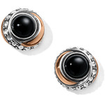 Brighton Neptune's Rings Black Agate Button Earrings