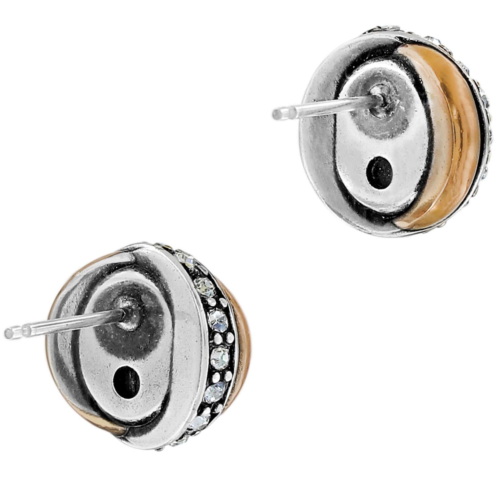 Brighton Neptune's Rings Black Agate Button Earrings