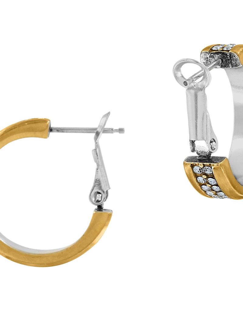 Brighton Meridian Two Tone Hoop Earrings