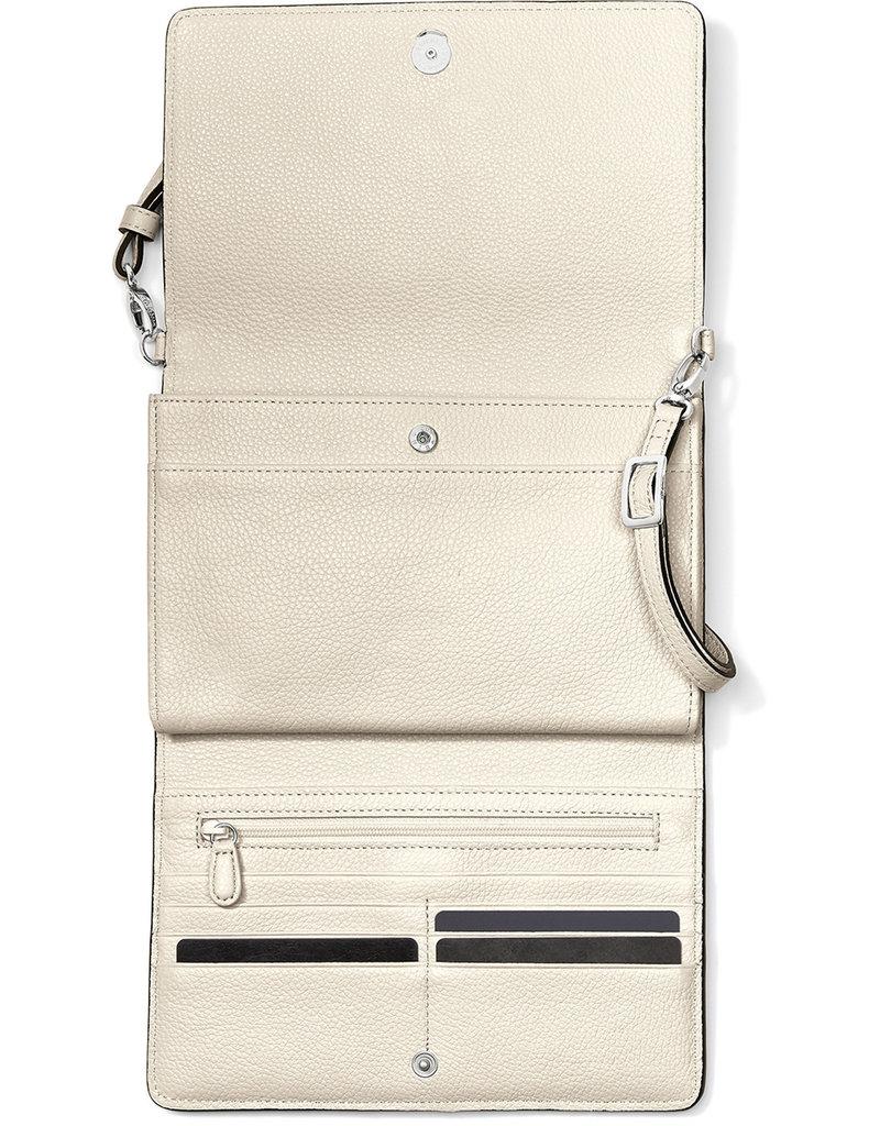Brighton Ferrara Classic Slim Organizer Shoe White