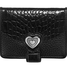 Brighton Bellissimo Heart Small Wallet Black