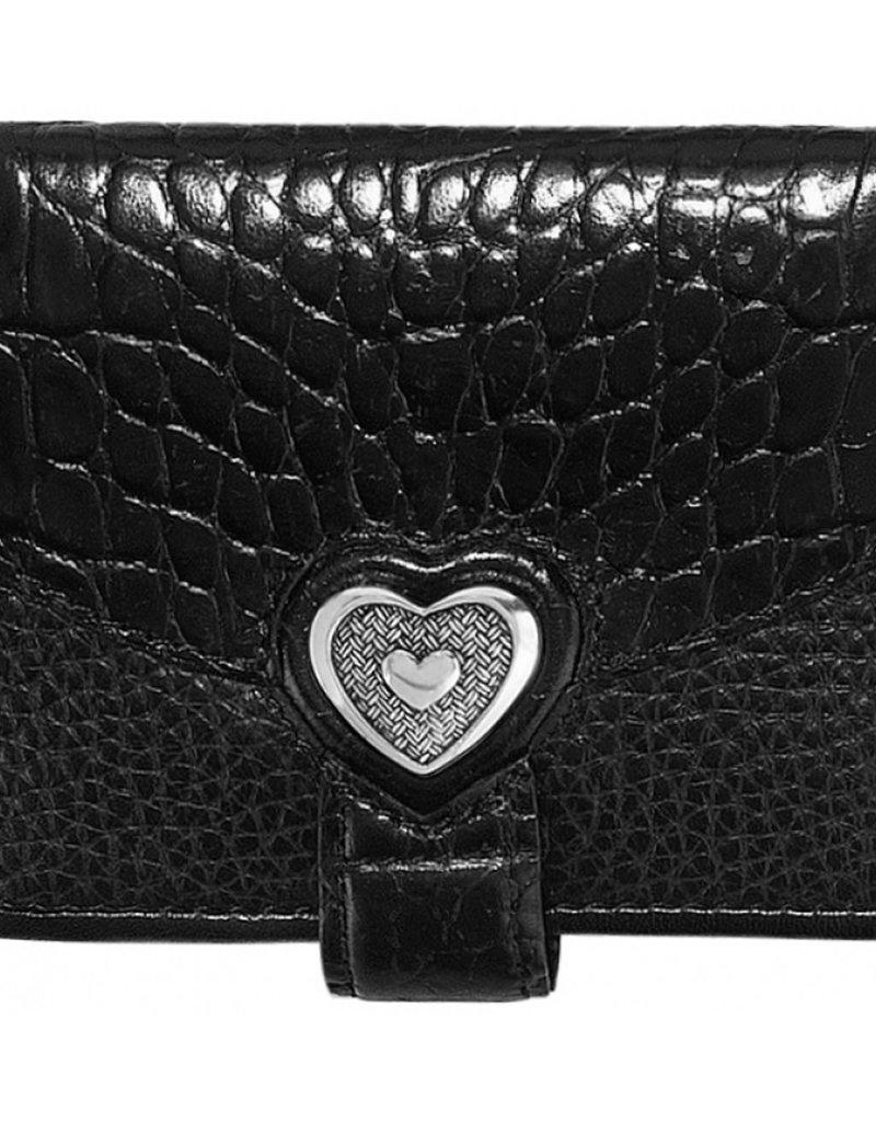 Brighton Bellissimo Heart Small Wallet Black