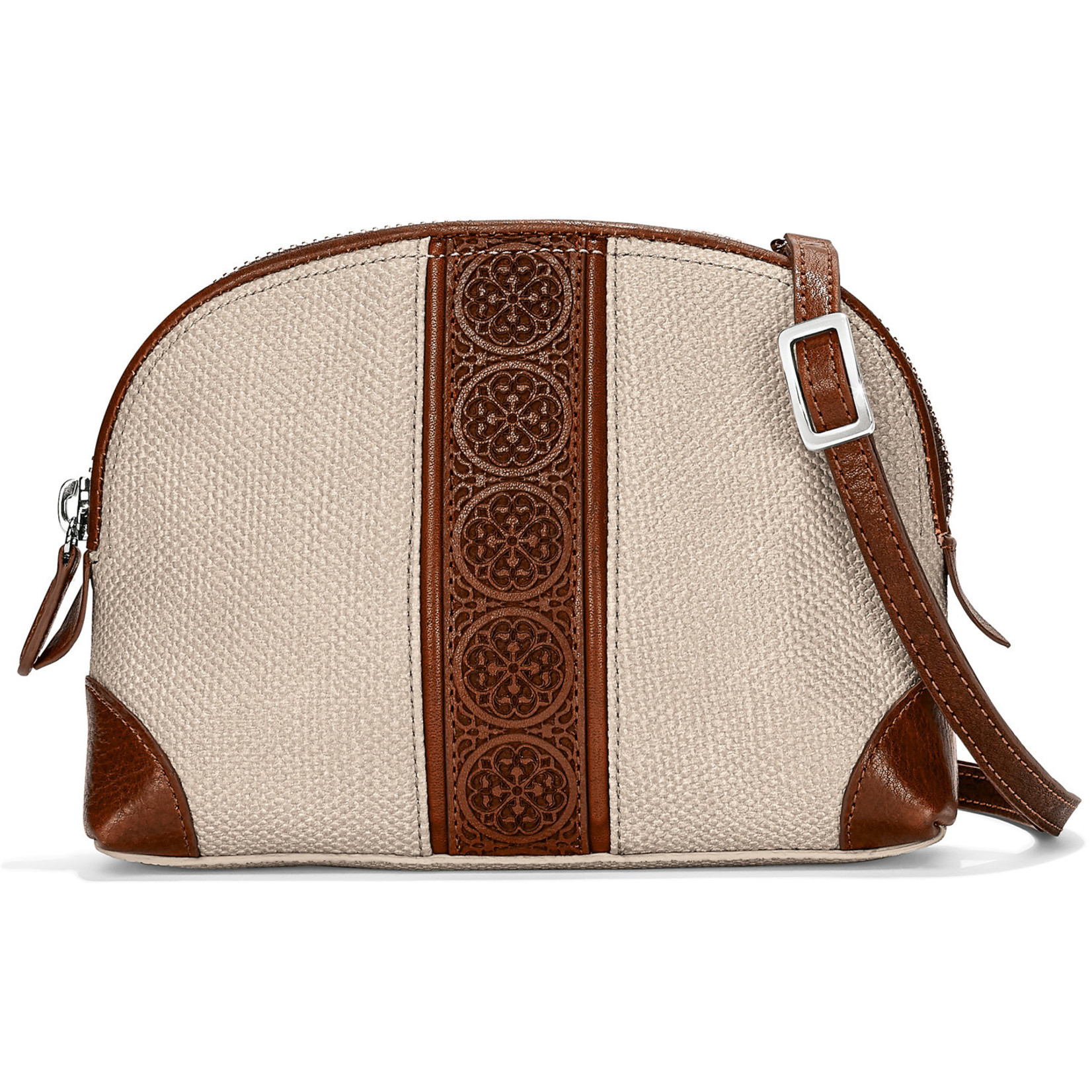 Brighton St. Tropez Large Cross Body Pouch Whiskey Stone