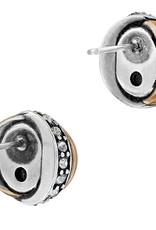 Brighton Neptune's Rings Gray Pearl Button Earrings
