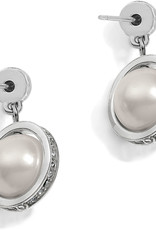 Brighton Chara Ellipse Spin Post Drop Earrings Pearl