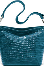 Brighton Cherie Soft Shoulderbag Peacock Patent Croc