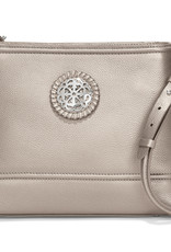 Brighton Lorelei Mini Shopper Cross Body Zinc Pearl