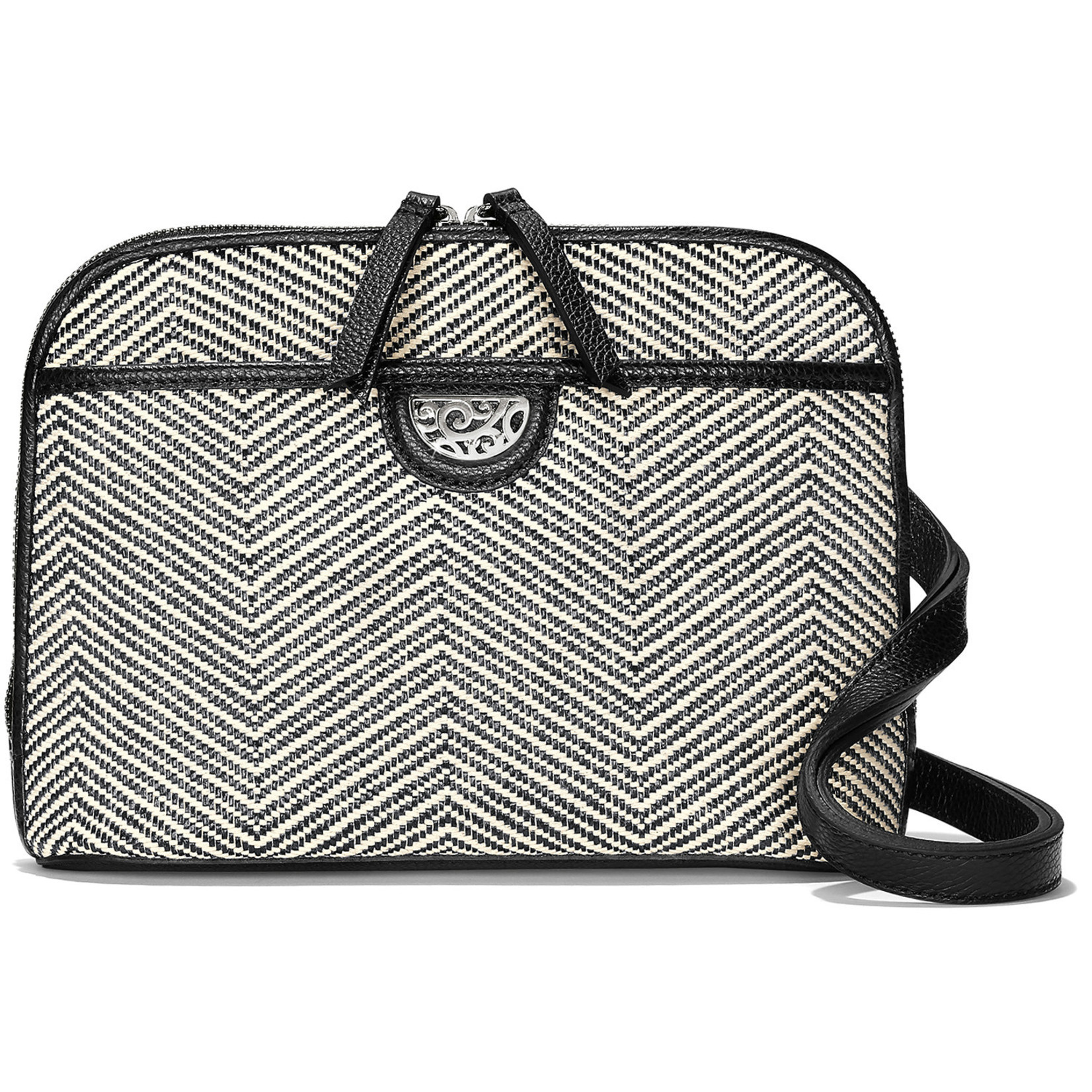 Brighton Jojo Domed Chevron Organizer Black-White