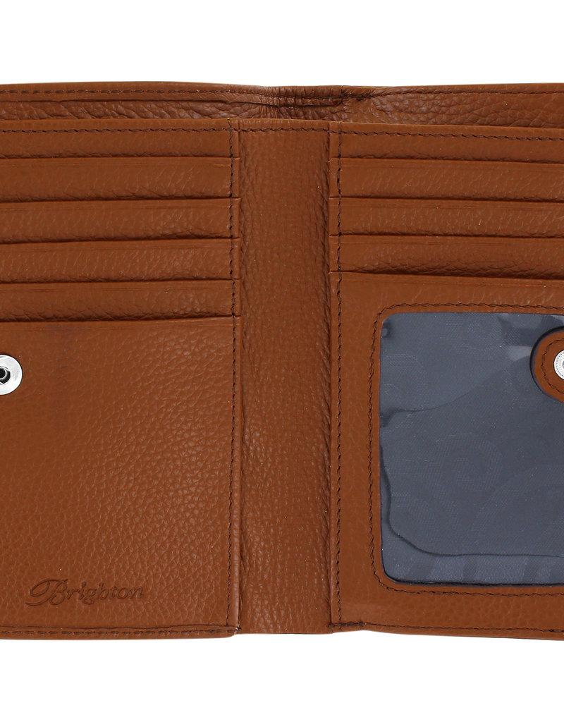 Brighton Pretty Tough Medium Zip Wallet Bourbon