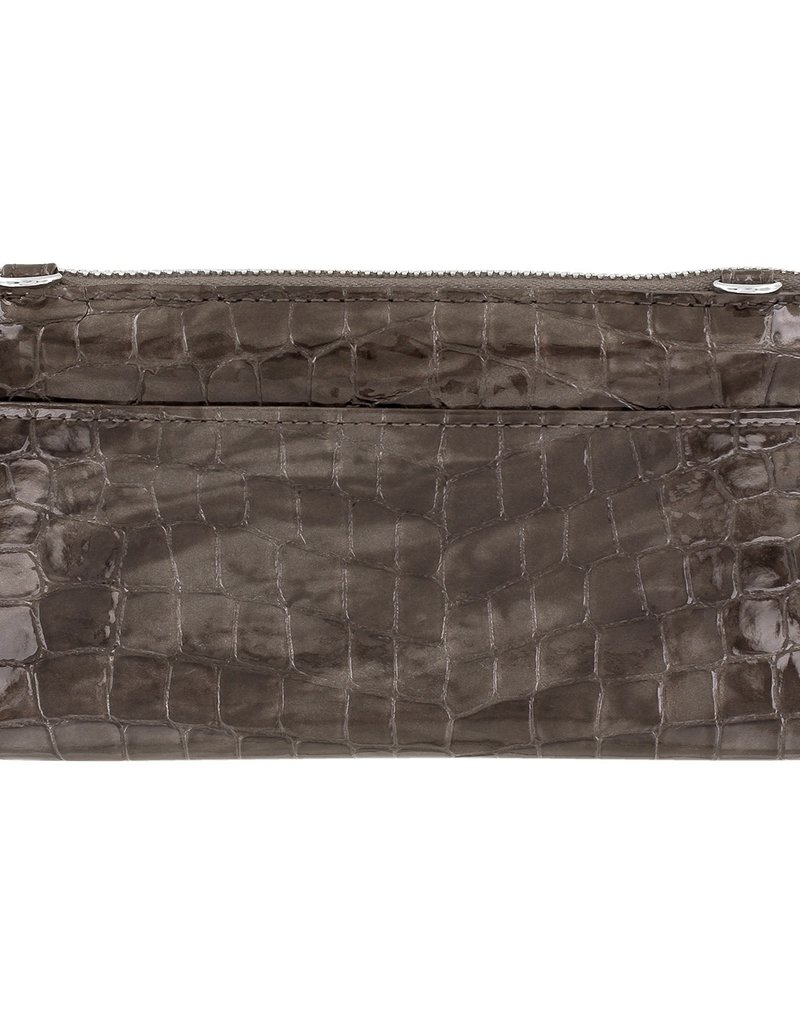 Brighton Bellisimo Heart Large Wallet Pewter