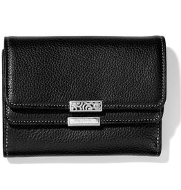 Brighton Barbados Double Flap Medium Wallet Black Multi