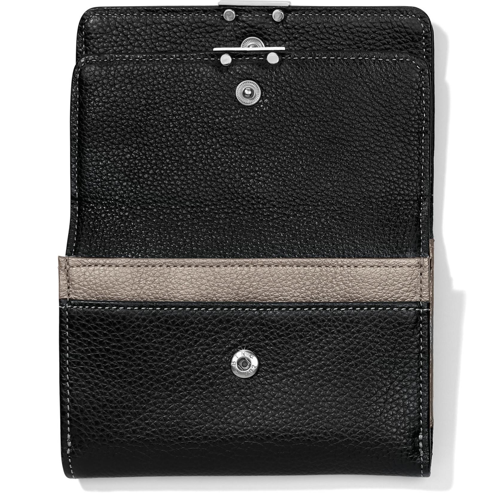 Brighton Barbados Double Flap Medium Wallet Black Multi
