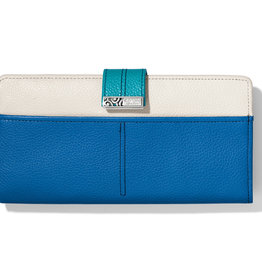 Brighton Barbados Large Pocket Wallet Blue Multi