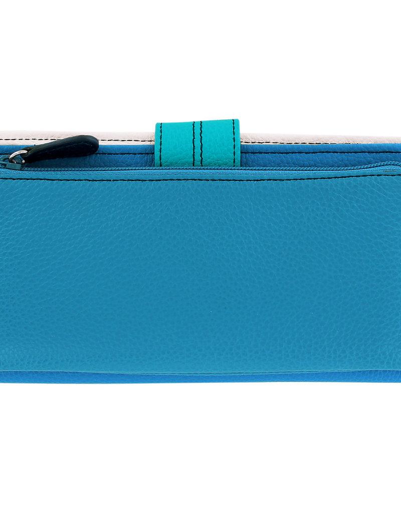 Brighton Barbados Large Pocket Wallet Blue Multi