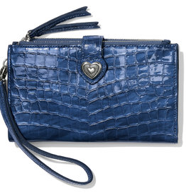 Brighton Bellissimo Heart Double Zip Wallet French Blue
