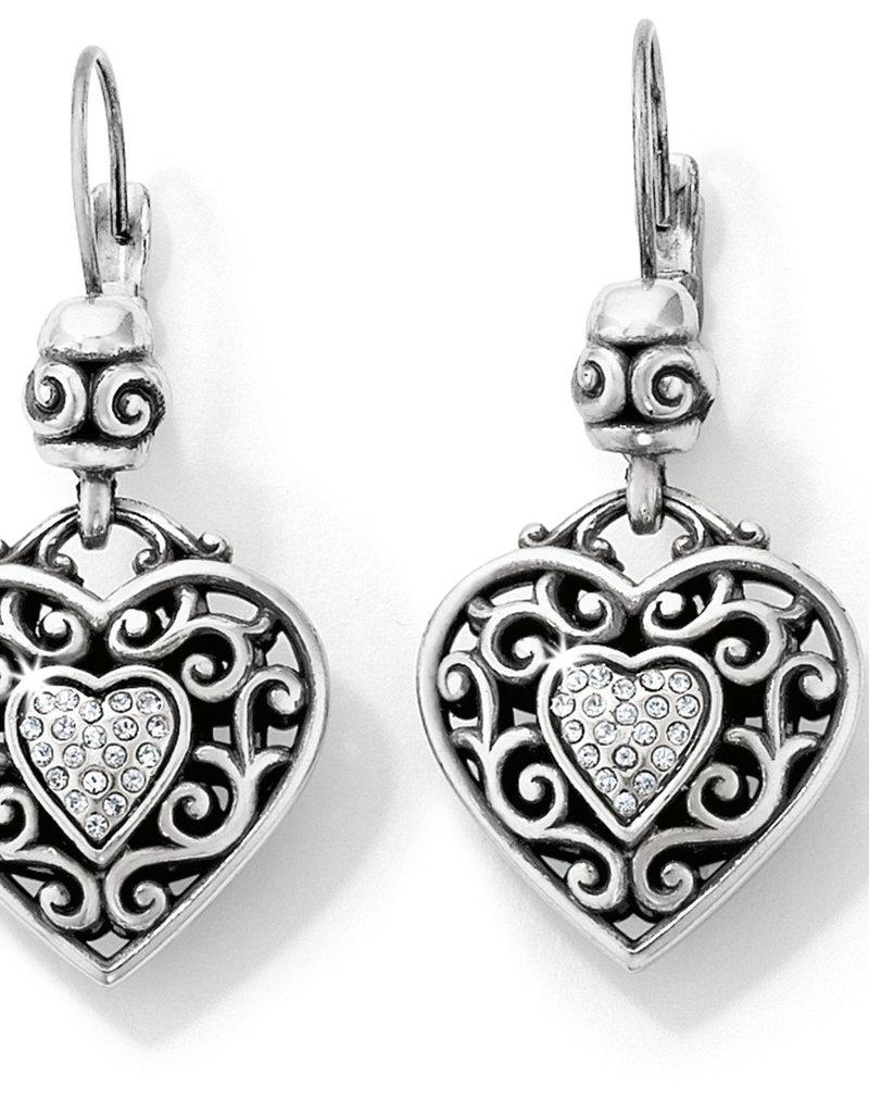 Brighton Reno Heart Leverback Earrings