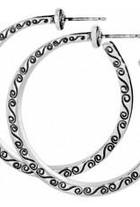 Brighton Secret Of Love Hoop Post Earrings
