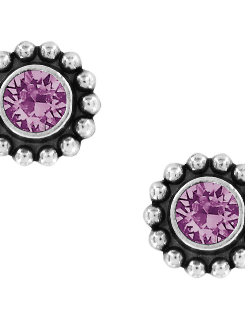 Brighton Twinkle Mini Post Earrings Amethyst
