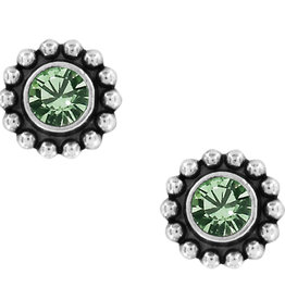 Brighton Twinkle Mini Post Earrings Peridot
