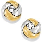 Brighton Love Me Knot Mini Post Earrings Silver-Gold