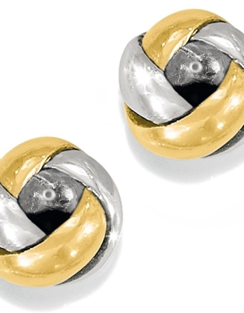 Brighton Love Me Knot Mini Post Earrings Silver-Gold