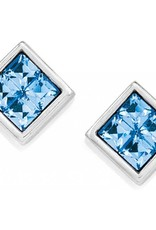 Brighton Spectrum Mini Post Earrings Silver-Blue
