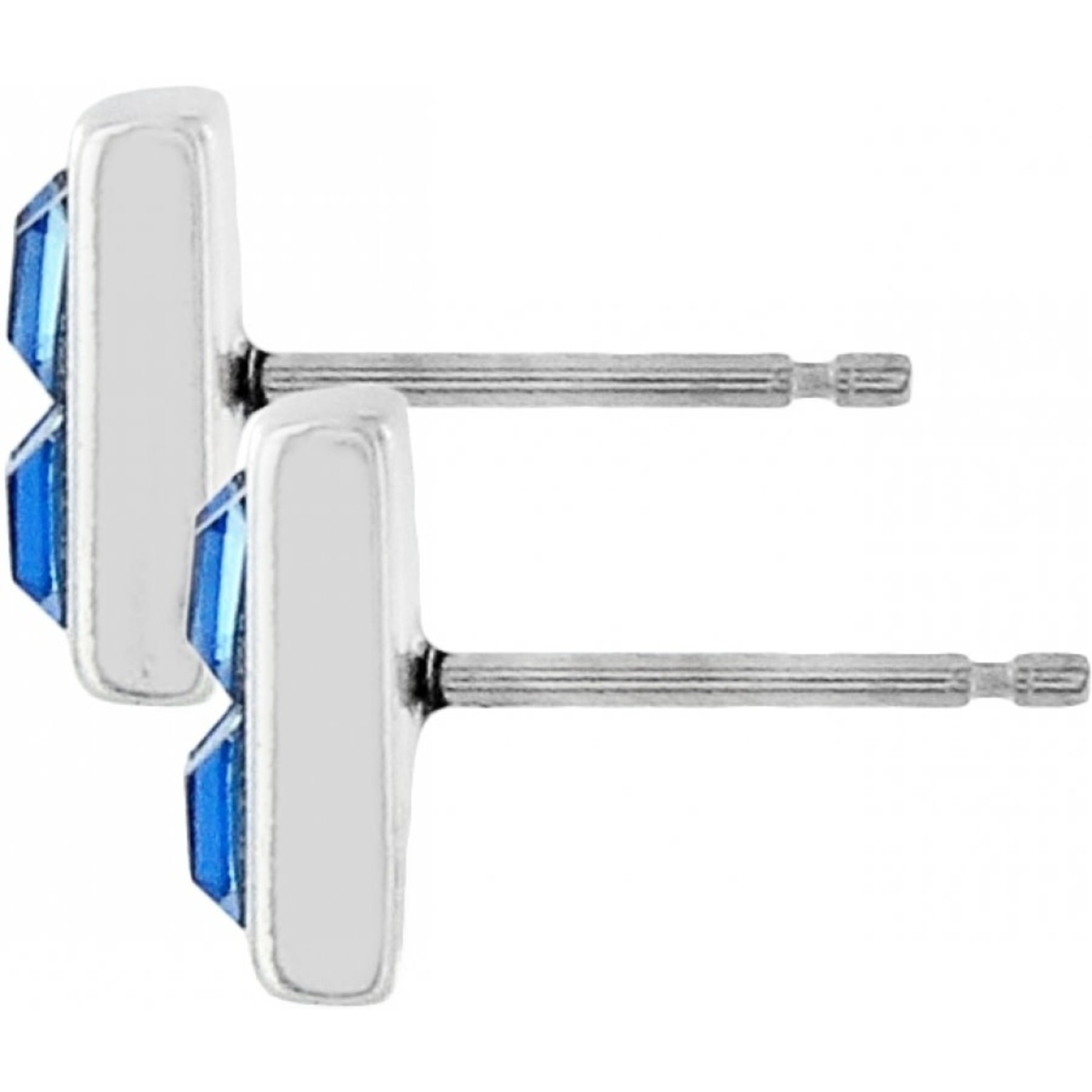 Brighton Spectrum Mini Post Earrings Silver-Blue