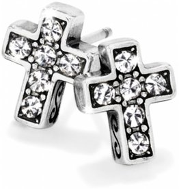 Brighton Starry Night Cross Mini Post Earrings