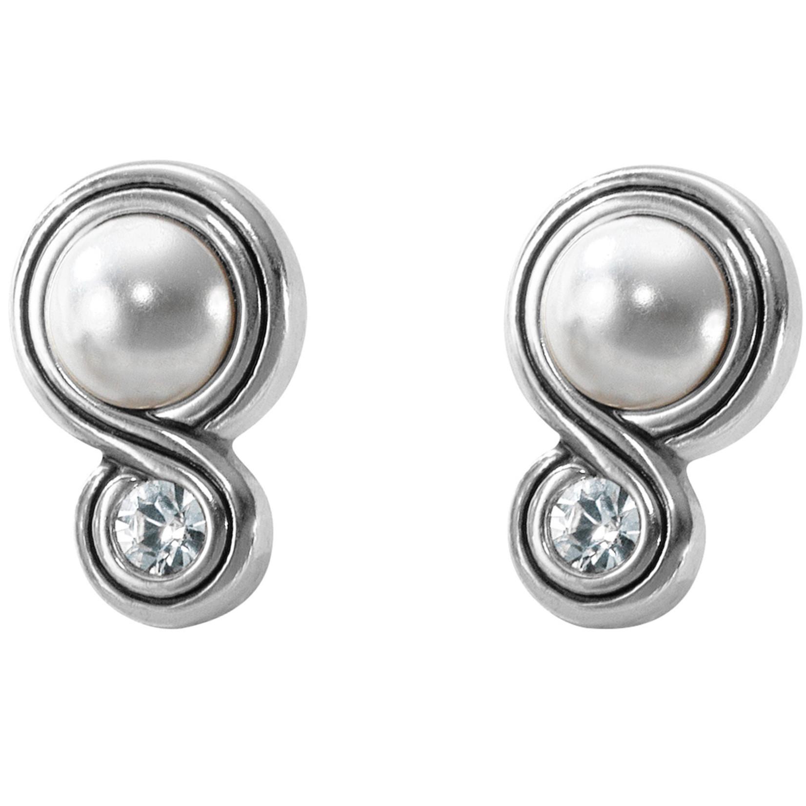 Brighton Infinity Sparkle Post Earrings Pearl