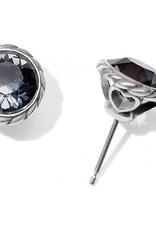 Brighton Iris Stud Earrings Silver-Black