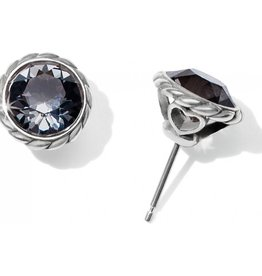 Brighton Iris Stud Earrings Silver-Black
