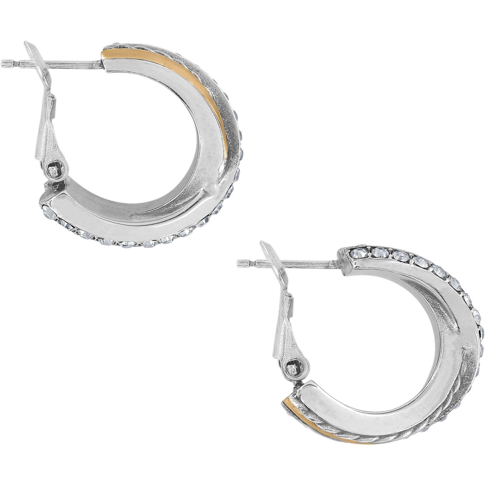 Brighton Neptune's Rings Post Clip Hoop Earrings Silver-Gold