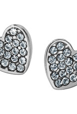Brighton Chara Heart Post Earrings Silver